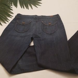 LUCKY BRAND JEANS SIZE 10 X 30 FLAP POCKET STRETCH